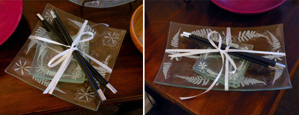 Linda Banks Weed Ash Glass Sushi Sets