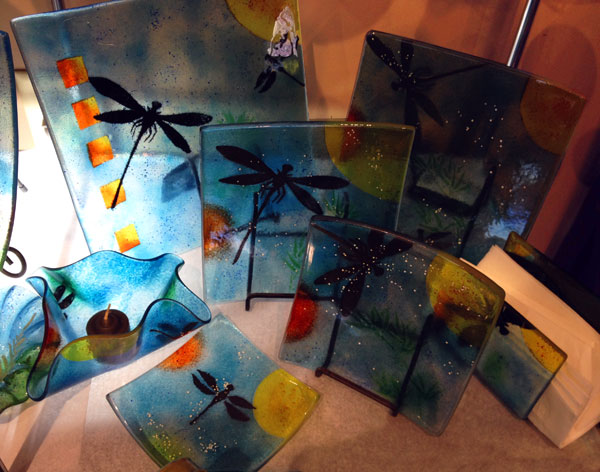 Linda Banks Fused Glass Dragonfly Collection